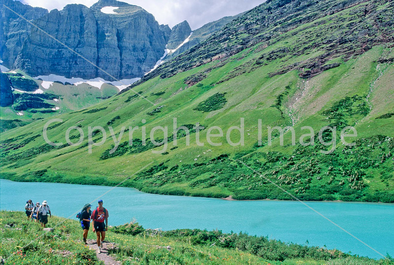 Hiker(s) in Glacier National Park, Montana - 16 - 72 dpi
