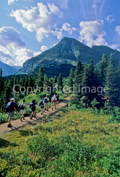 Hiker(s) in Glacier National Park, Montana - 81 - 72 dpi