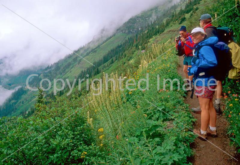 HI mt glacier 22 - ORps - jpeg - Hikers in Montana's Glacier National Park