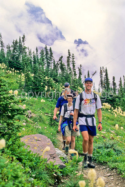 Hiker(s) in Glacier National Park, Montana - 76 - 72 dpi
