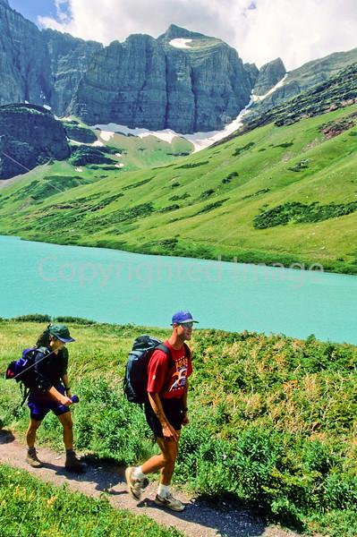 Hiker(s) in Glacier National Park, Montana - 52 - 72 dpi