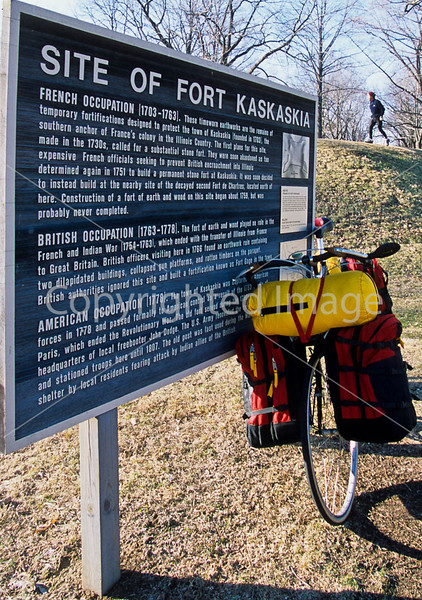 Biker at Fort Kaskaskia Historic Site - 1 - 72 ppi-2