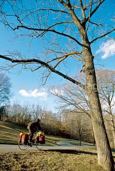 Cyclist at Illinois' Fort Kaskaskia Historic Site-11 - 72 ppi