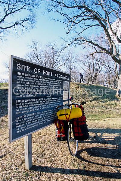 Biker at Fort Kaskaskia Historic Site - 1 - 72 ppi