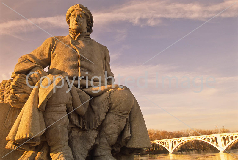 Frances Vigo statue at George Rogers Clark Nat'l Historical Park, Vincennes, IN -  10 - 72 ppi