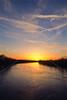 Winter sunset over Wabash River at George Rogers Clark Nat'l Historical Park, Vincennes, IN -  12 - 72 ppi