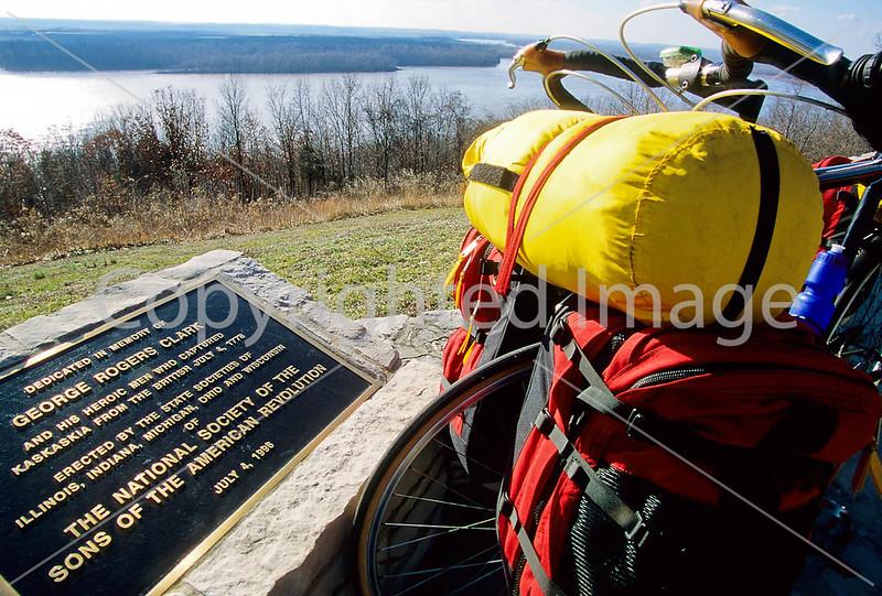 Cyclist at Illinois' Fort Kaskaskia Historic Site-6 - 72 ppi