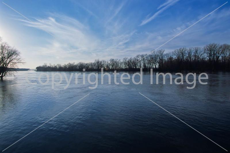 Winter sunset over Wabash River at George Rogers Clark Nat'l Historical Park, Vincennes, IN -  3 - 72 ppi