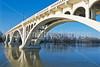 Lincoln Memorial Bridge over Wabash River near Vincennes, Indiana - 4 - 72 ppi
