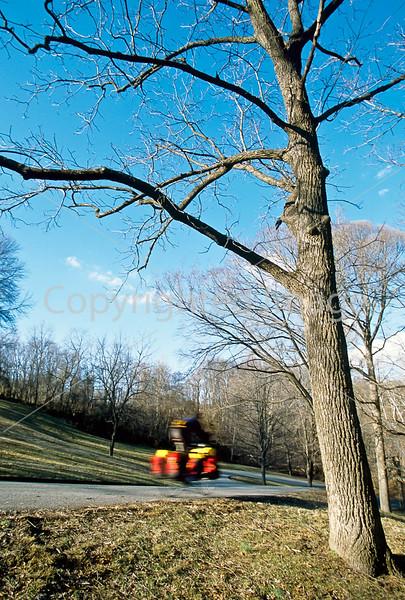 Cyclist at Illinois' Fort Kaskaskia Historic Site-13 - 72 ppi