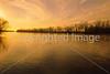 Winter sunset over Wabash River at George Rogers Clark Nat'l Historical Park, Vincennes, IN -  14 - 72 ppi