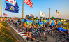 Ragbrai 2014 - Leaving Rock Valley, Iowa, in early morning - D1-C2-0570 - 72 ppi