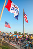 RAGBRAI 2014 - Day 1 - parade of flags out of Rock Valley, Iowa, at start of ride - C2-0606 - 72 ppi