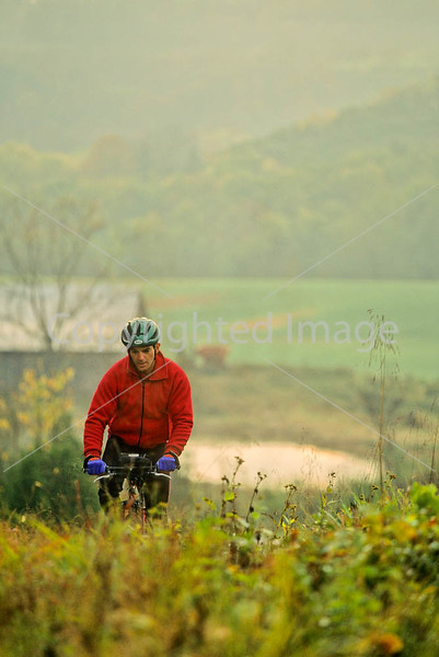 Mountain biker along the Kentucky River in Madison County, Kentucky - 72 dpi - -18