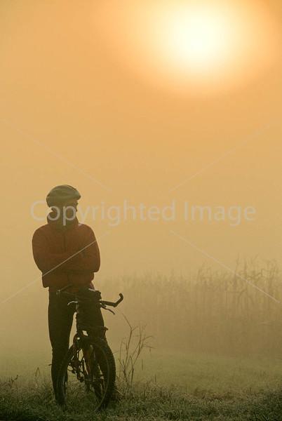 Mountain biker along the Kentucky River in Madison County, Kentucky - 72 dpi - -9
