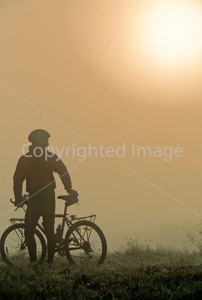 Mountain biker along the Kentucky River in Madison County, Kentucky - 72 dpi - -8