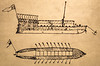 Clark's drawing of keelboat - 72 ppi