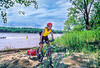 Touring mt  biker just off Katy Trail to MO River near Defiance, MO - 11 - 72 ppi