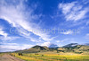 Cyclists on climb to Lemhi Pass on Lewis & Clark Trail, ID-MT border - 10 - 72 ppi
