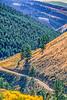 Biker on L&C Trail, on Idaho side of Lemhi Pass in Beaverhead Mts - 11-Edit - 72 ppi