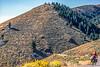 Biker on L&C Trail, on Idaho side of Lemhi Pass in Beaverhead Mts - 10-Edit - 72 ppi