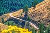 Biker on L&C Trail, on Idaho side of Lemhi Pass in Beaverhead Mts - 6-Edit - 72 ppi