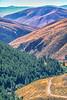 Biker on L&C Trail, on Idaho side of Lemhi Pass in Beaverhead Mts - 3-Edit-Edit-Edit - 72 ppi