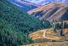 Biker on L&C Trail, on Idaho side of Lemhi Pass in Beaverhead Mts - 1-Edit-Edit-Edit - 72 ppi