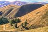 Biker on Lewis & Clark Trail, nearing Lemhi Pass on Montana-Idaho border - 5-Edit - 72 ppi