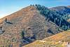 Biker on L&C Trail, on Idaho side of Lemhi Pass in Beaverhead Mts - 5-Edit - 72 ppi