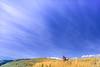 Biker on L&C Trail, on Idaho and Montana border, at Lemhi Pass in Beaverhead Mts - 12-Edit - 72 ppi