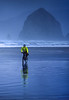 Lewis & Clark - Cyclist at Cannon Beach on Oregon coast - 9 - 72 ppi-2