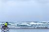 Lewis & Clark - Cyclist at Cannon Beach on Oregon coast - 10 - 72 ppi