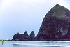 Lewis & Clark - Cyclist at Cannon Beach on Oregon coast - 8 - 72 ppi
