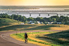 Lewis & Clark - Cyclist near Chamberlain, South Dakota, on Missouri River - 6 - 72 ppi