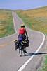 Tourer on Lewis & Clark Trail; Montana Hwy 81 near Lewistown - 1