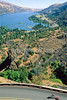 Touring cyclist on Rowena Loops of Columbia Gorge east of Portland, OR - 10 - 72 ppi