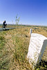 Cyclist at Little Bighorn Battlefield Nat  Monument in Montana - 7 - 72 ppi