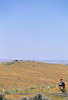 Cyclist at Little Bighorn Battlefield Nat  Monument in Montana - 6 - 72 ppi
