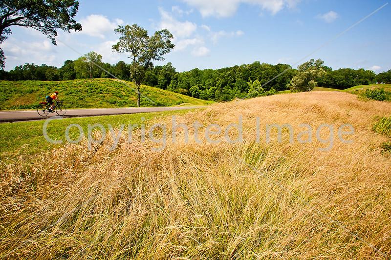 Cyclist in Vicksburg Nat'l Military Park, MS - D3-C2-0043 - 72 ppi