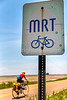 Cyclist on MRT west of Ripley, TN, on state hwy 19 - C3-0023 - 72 ppi