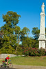 Cyclist at Confederate monument in Port Gibson, MS - D1-C3-0317 - 72 ppi