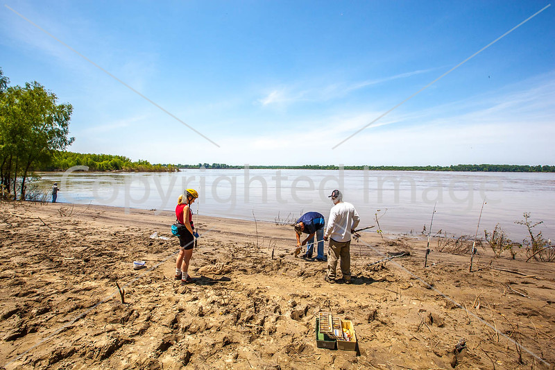 MRT cyclist and fishermen with catfish just off state hwy 19 west of Ripley, TN- C2-0031 - 72 ppi