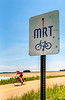 Cyclist on MRT west of Ripley, TN, on state hwy 19 - C3-0035 - 72 ppi