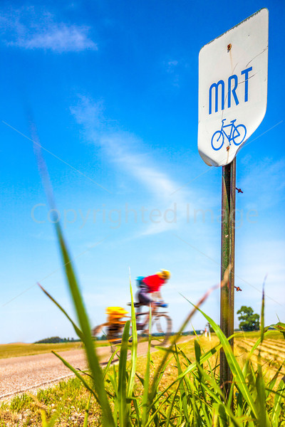 Cyclist on MRT at US 51 & Leighs Chapel Rd near Henning, TN - C2-00033 - 72 ppi