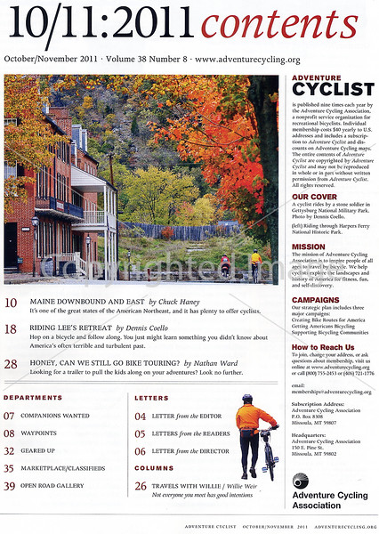 Adventure Cycling - Lee's Retreat - Table of Contents