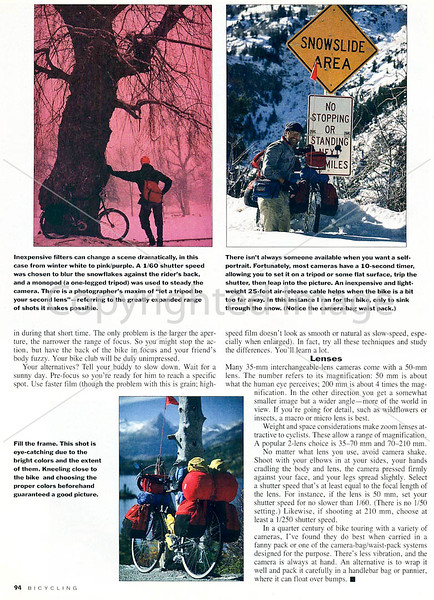 Bicycling Magazine - Photo Tips - Page 5