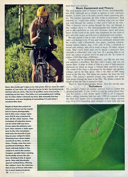 Bicycling Magazine - Photo Tips - Page 3