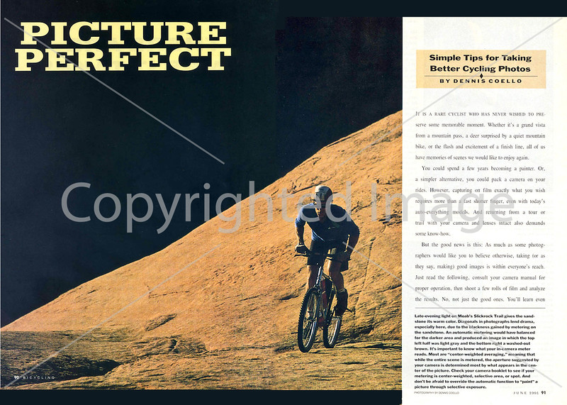Bicycling Magazine - Photo Tips - Pages 1 & 2