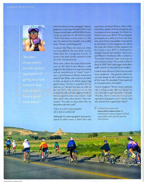 Subaru's Drive Magazine - Mass Bike Rides - Page 5